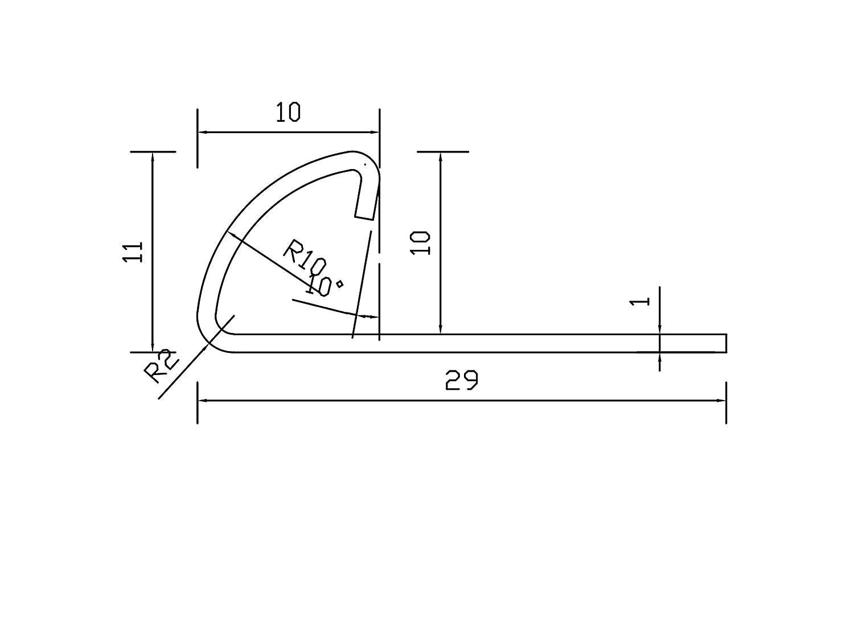 250cm Schiene H/öhe: 11mm PREMIUM FUCHS Fliesenschiene Viertelkreisprofil Edelstahl V2A Geb/ürstet kein Verdrehen m/öglich 1mm St/ärke 2,5 METER