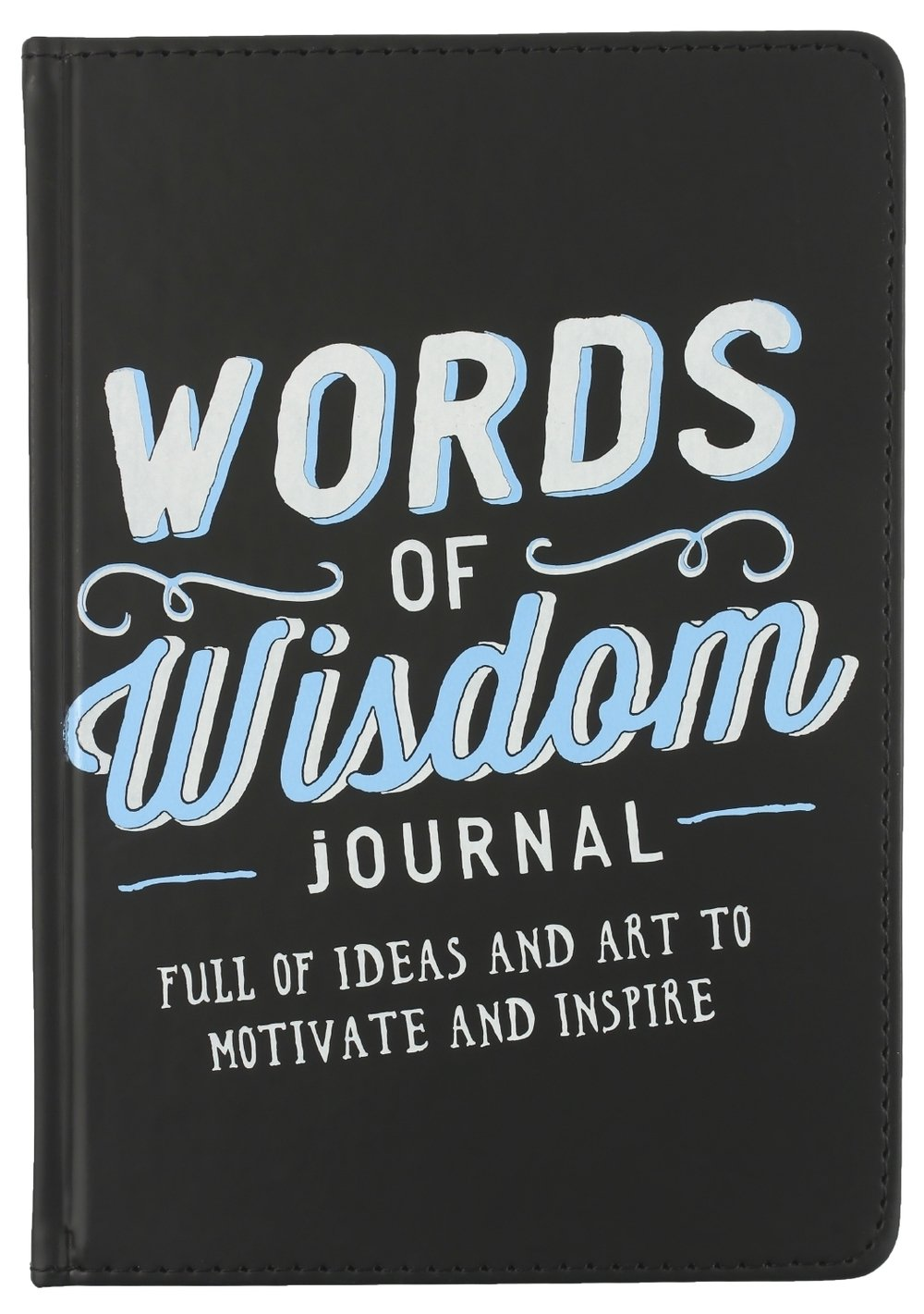 ECCOLO World Traveler 15,2 x 20,3 cm Words Of Wisdom Inspirierende Tagebuch, schwarz (t420 a)