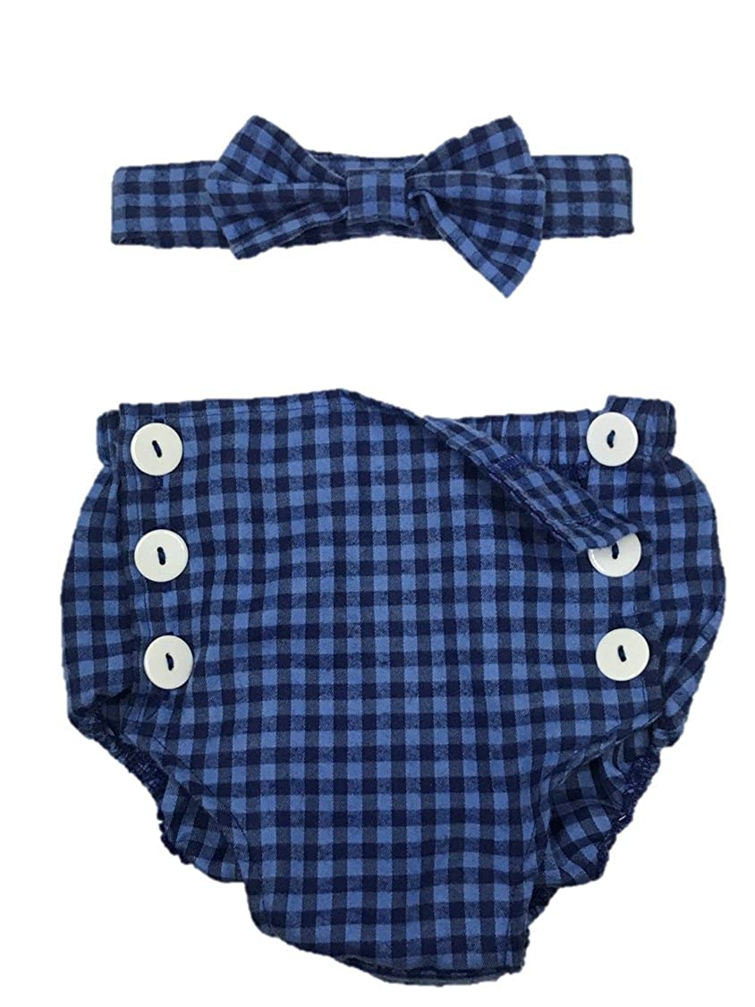 Cake Smash Baby Boy Clothes First 1st 2nd Birthday Outfit Diaper Cover Pants Bloomer Blue Snap Buttons Bow Tie Set Photo Prop