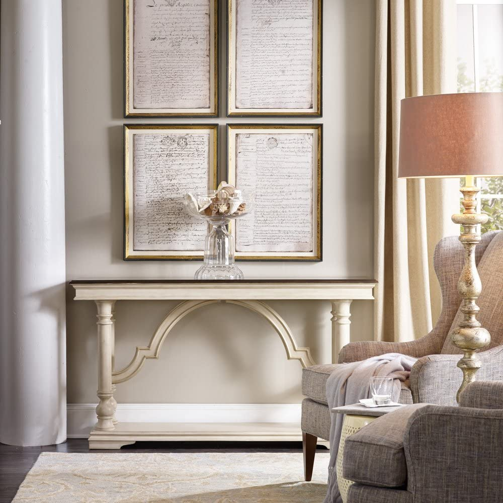 Hooker Furniture Leesburg Console Table in Antique White