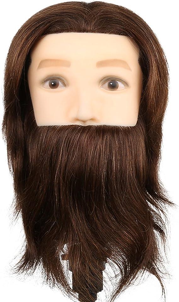 El estilo de la cabeza del maniquí hombre con el ejercicio Barba Peinado - 80% y el 20% del pelo natural del pelo Estudio Animal en cosmética ...