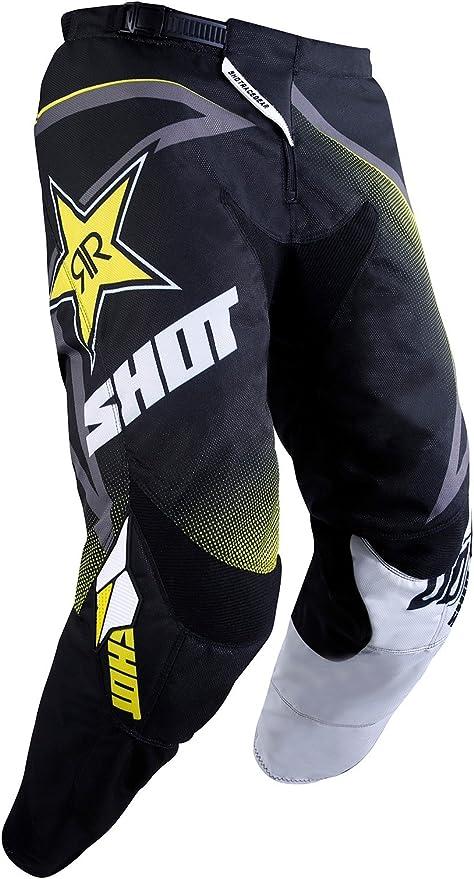 SHOT maillot cross Contact Rockstar 2020 noir jaune Taille M