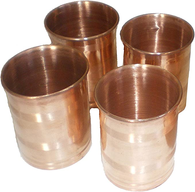 Traditional Indian Special Copper Drinking Glass Tumbler Ideal Tableware Di 9895