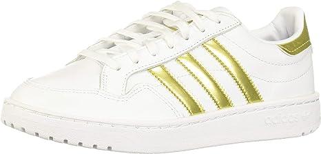 Encadenar semáforo Perspectiva  Adidas Team Court W White Gold Metallic White 42: Amazon.co.uk: Sports &  Outdoors