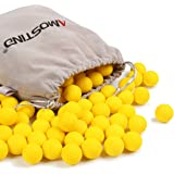 AMOSTING Refill Darts Pack 100 Round Ammo Balls for Nerf Rival Blasters Gun-Yellow Bullets