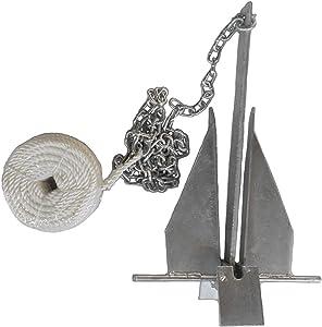 MarineNow Deluxe Portable 13 lb Fluke Style Anchor Kit
