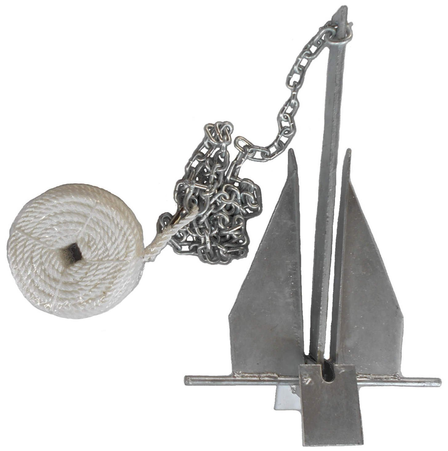MarineNow Deluxe Portable 13 lb Fluke Style Anchor Kit by MarineNow