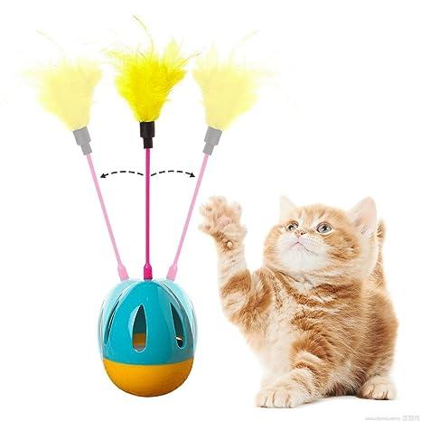 ASOCEA - Juguetes interactivos para Gatos con Plumas para Gatos y Gatitos para Jugar y Hacer