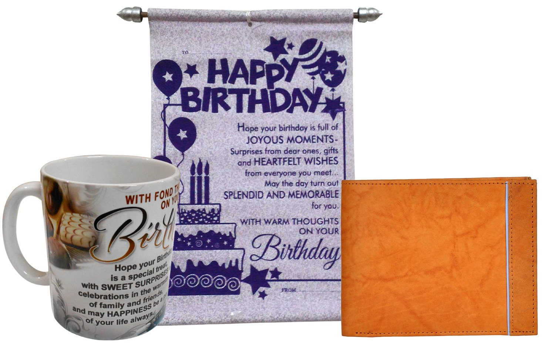 Birthday Gift For Boys Or Men  Mug, Birthday Card U0026 Leather Wallet:  Amazon.in: Toys U0026 Games
