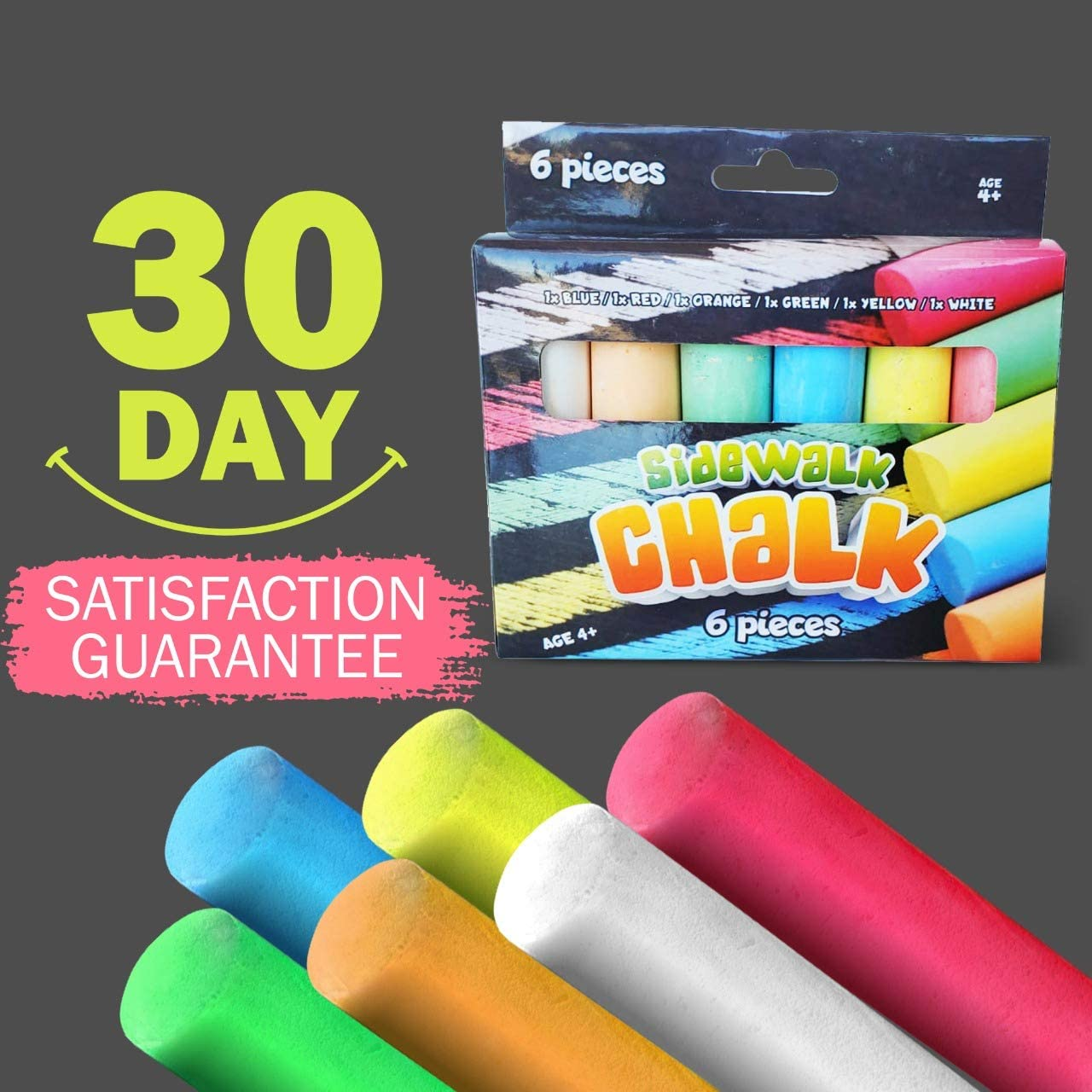 Sidewalk Chalk for Kids Washable Outdoor Great for Party Favors Driveway Sideaalk Chalk Sets