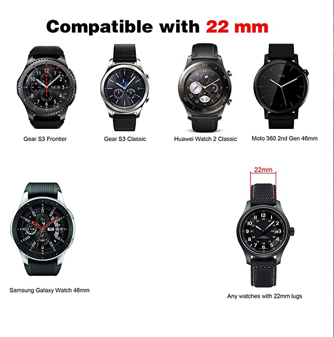 Sycreek Silicone 20mm Quick Release Universal Watch Band, Replacement Strap for Smart Watch with 20mm Lug, Such as Samsung Galaxy Watch 42mm Galaxy ...
