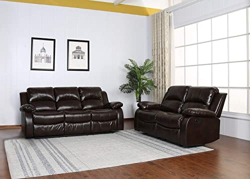 Blackjack Furniture 9393 Portico Collection Leather Air Mid Century Modern Living Room Reclining