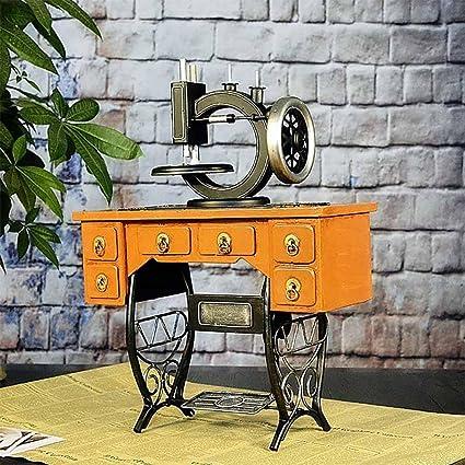 WW muebles de diseño de dormitorio decorativo Vintage Sewing Machine muebles salón, black + yellow