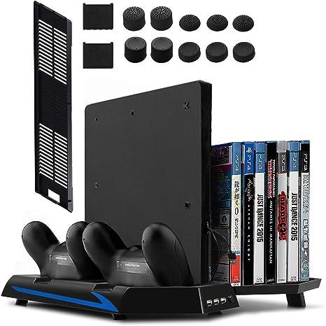 Younik Soporte Vertical para PS4 / PS4 Slim con ventiladores ...