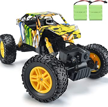Amazon Com Double E Rc Cars Rechargeable Remote Control Car With 2 Batteries 4wd Off Road Monster Truck Rock Crawler Toys For Boys Girls On All Age Toys Games