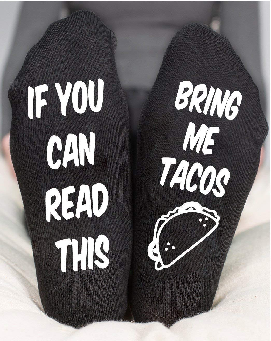If You Can Read This Socks Bring Me Tacos Custom Birthday Gift