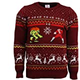 Street Fighter Official Ken Vs Ryu Christmas Jumpersweater Red