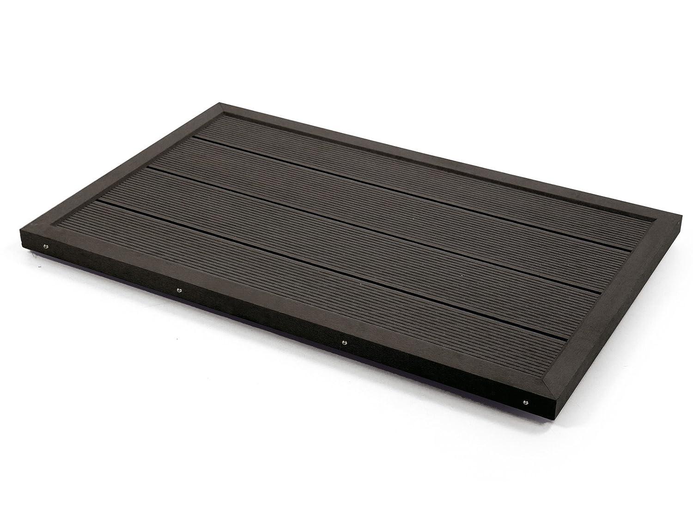 Steinbach Outdoor-Bodenelement, für Leitern und Solarduschen, 101 x 63 x 5,5 cm, dunkelgrau, 049028