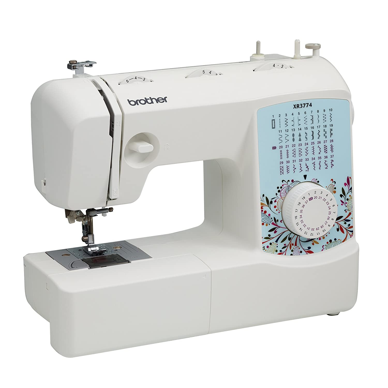 Amazon.com: Brother XR3774 Full-Featured Sewing and Quilting Machine with  37 Stitches, 8 Sewing Feet, Wide Table, and Instructional DVD