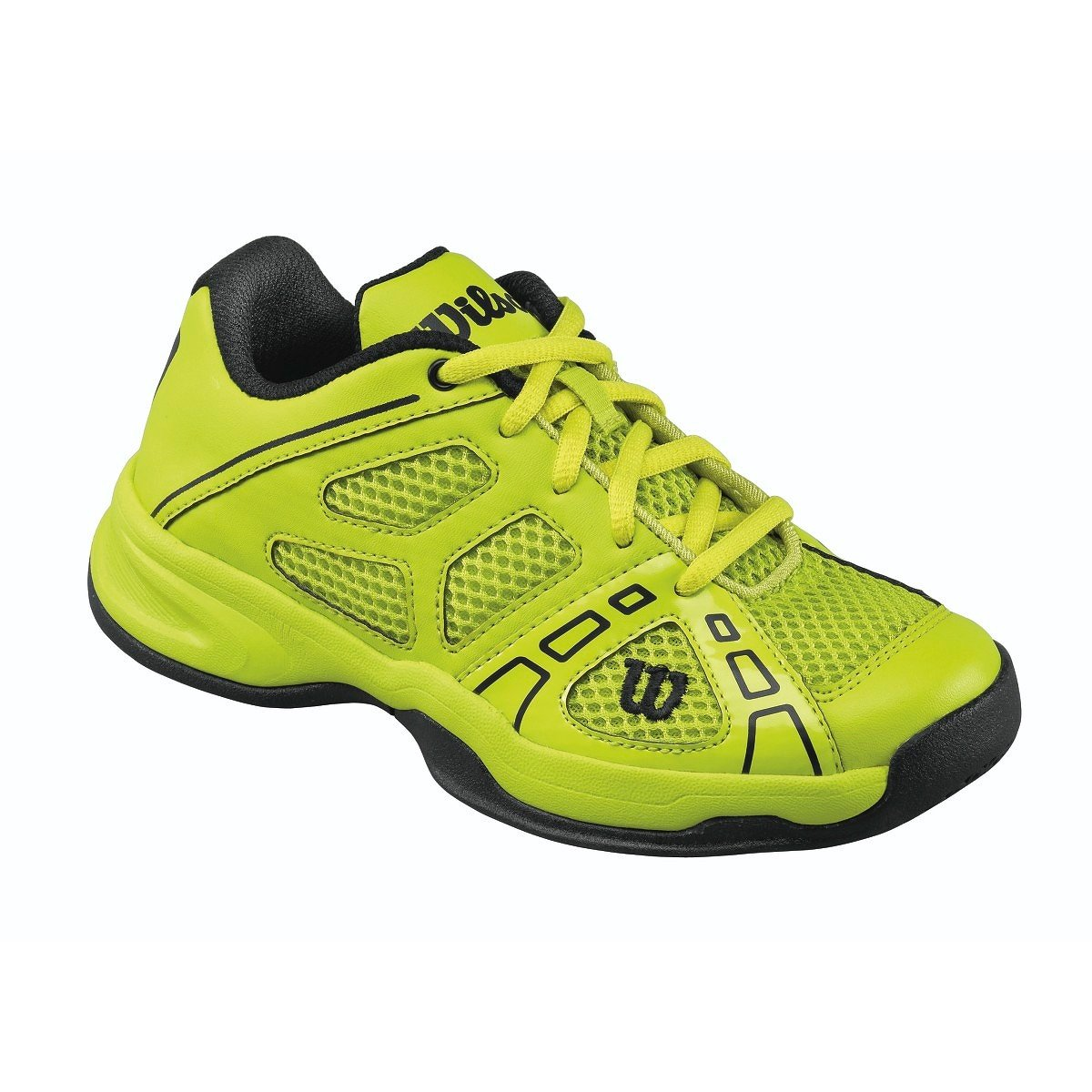 37cfd8fa0eb3 Youth Tennis Shoe - Intense Lime Black