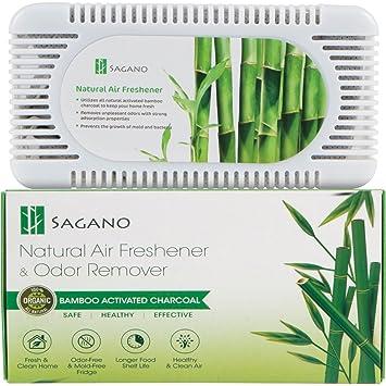 Bamboo Activated Charcoal Refrigerator Closet Deodorizer, Odor Absorber