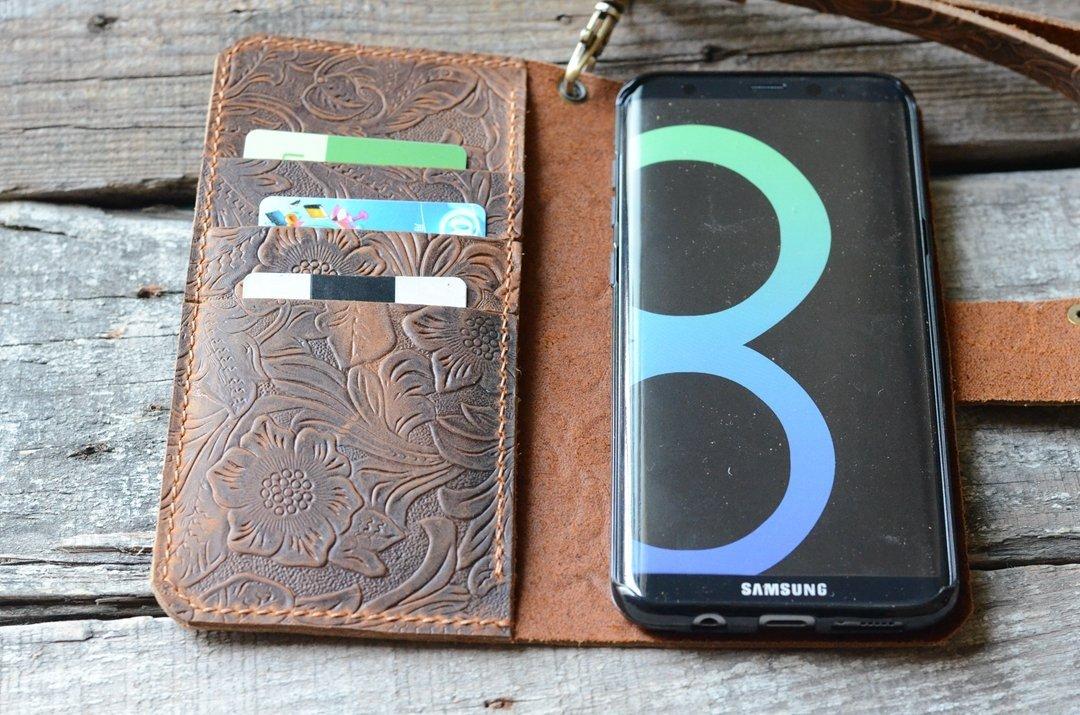 Véritable Housse en cuir pour Samsung Galaxy S8 / S7 EDGE livre Wallet Handmade style rétro avec porte-cartes de crédit de couverture pour Samsung Galaxy s7 S6 s6 edge s8 + plus
