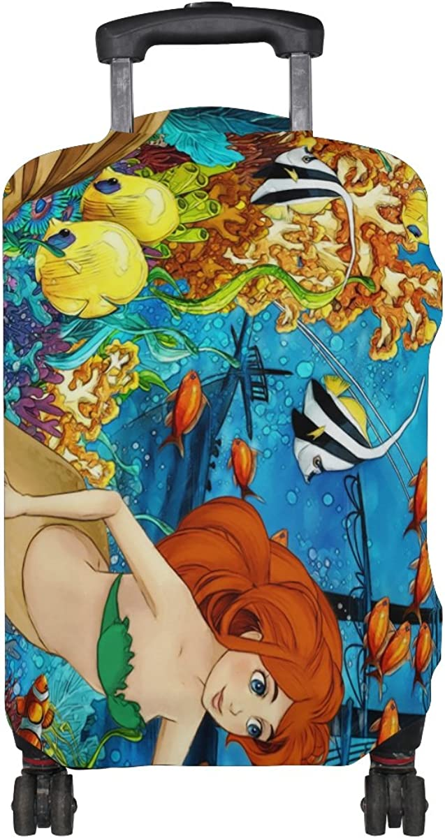 ALAZA Mermaid Coral Clown Fish Luggage Travel Suitcase Cover Case Protector