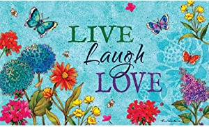 Custom Decor Mat - Live, Laugh, Love