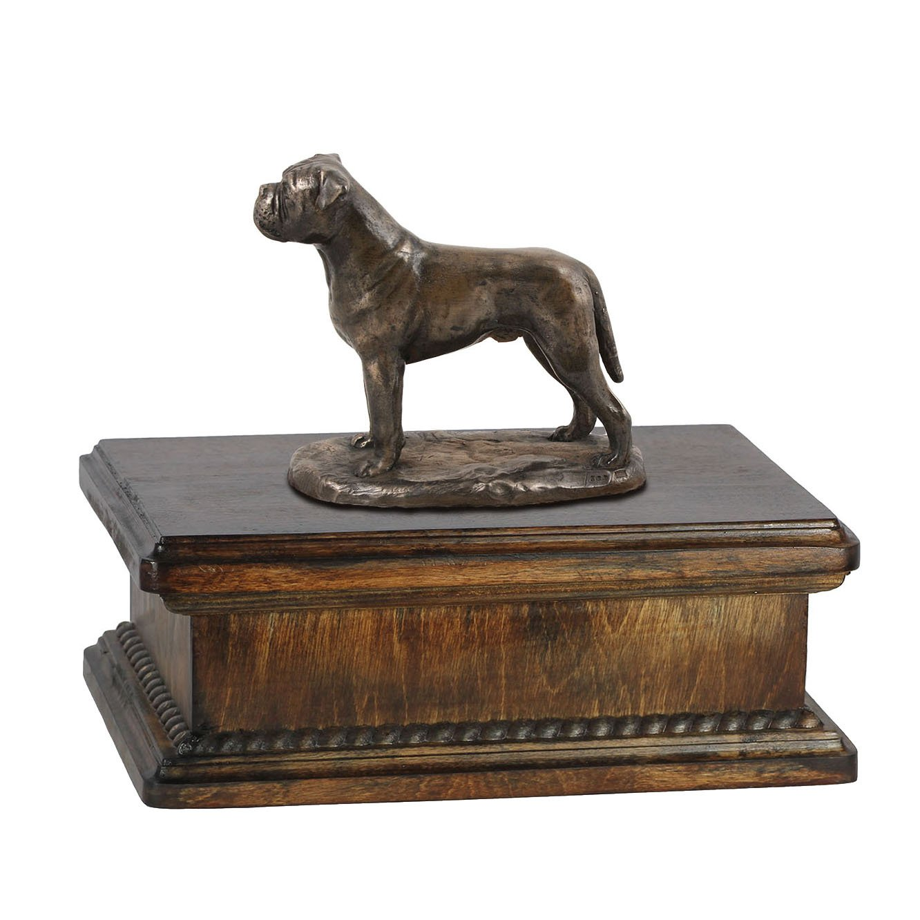 Bullmastiff, memorial, urn for dog's ashes, with dog statue, exclusive, ArtDog