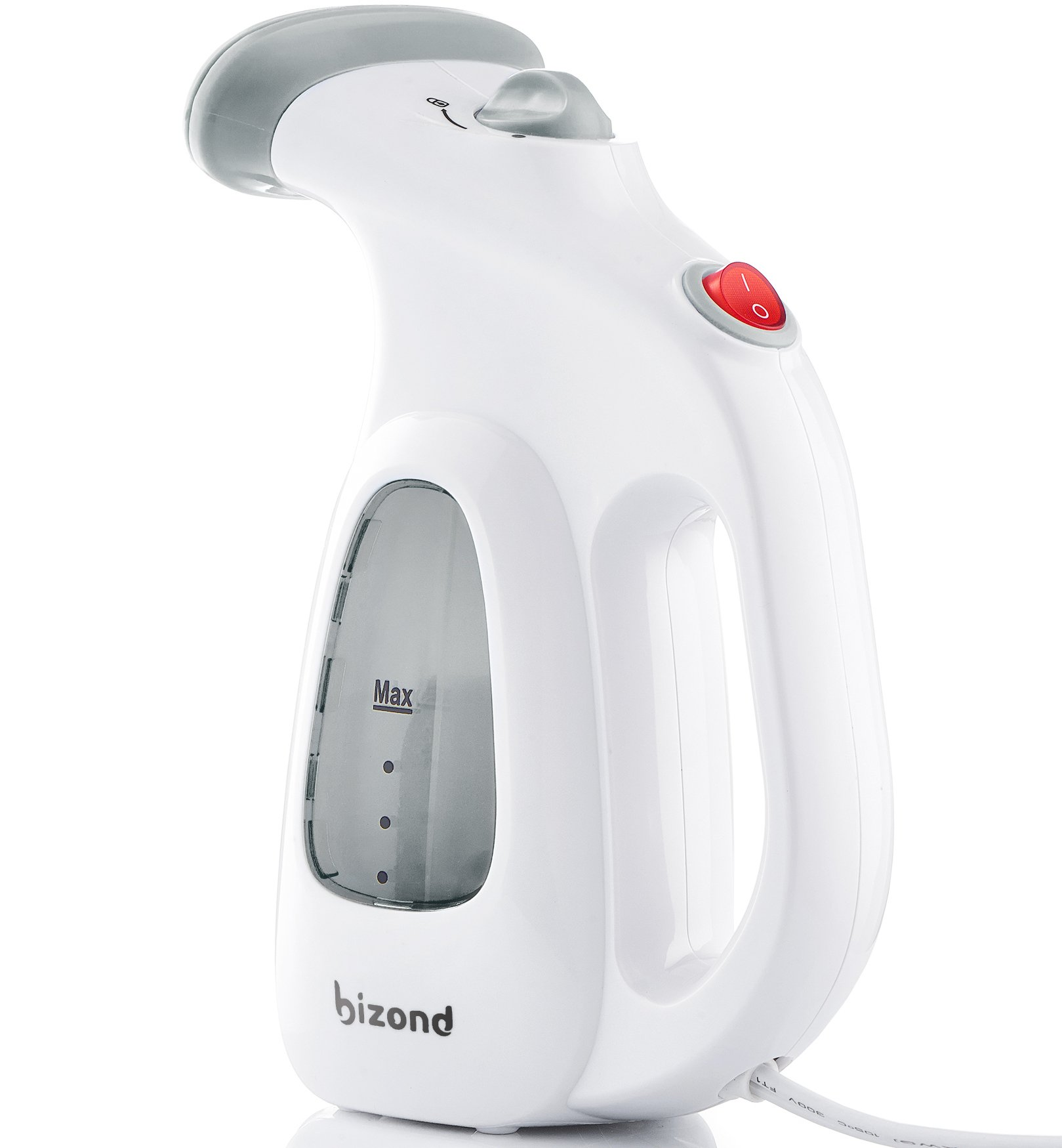 BIZOND Portable Garment Steamer for Clothes, Handheld - Home and Travel Accessories - Compact Mini Steamer Clothing, Fabric, Draperies, Shirt - Safe and Little Handy, Anti-Spill Steamer Iron - (Gray)