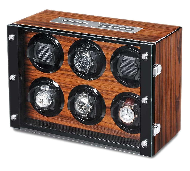 WATCH WINDER Lade Uhren Palisander Uhrenbox 6 Uhren automatische