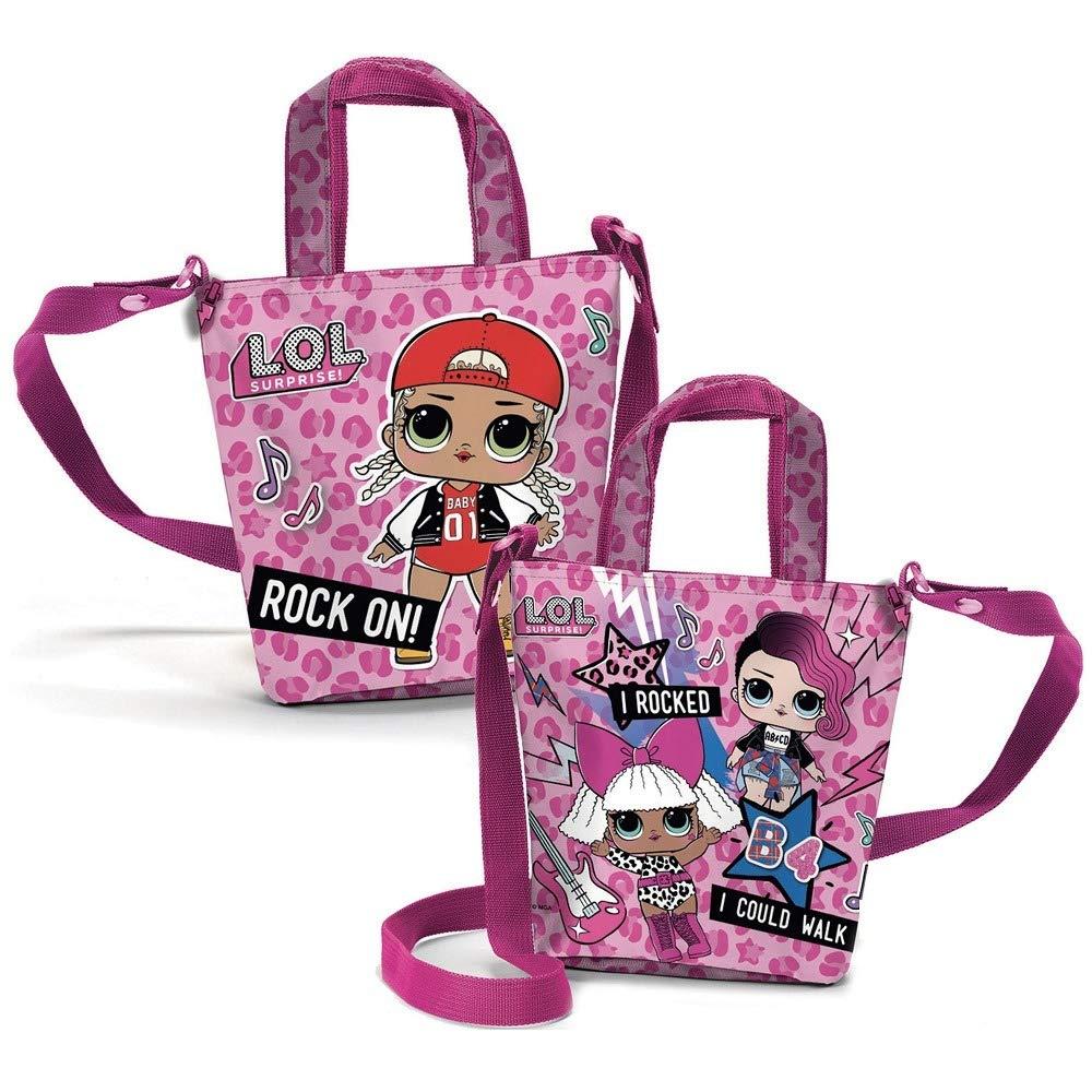 LOL SURPRISE B98382 Borsa Shopping, 18 Centimetri, Poliestere, Bambina, Rosa rocked