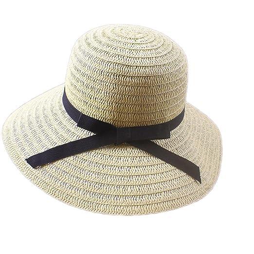LoveUnder20 Women Fashion Beach Sun Cap Straw Floppy Sun Hat Sun ... 55b65c3b6fc