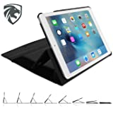ZooGue iPad Air 2 Case Genius Exec - Super secure adjustable stand - Drop protection - Sleep wake cover function - New 2016 version case - 6th Generation iPad - Black