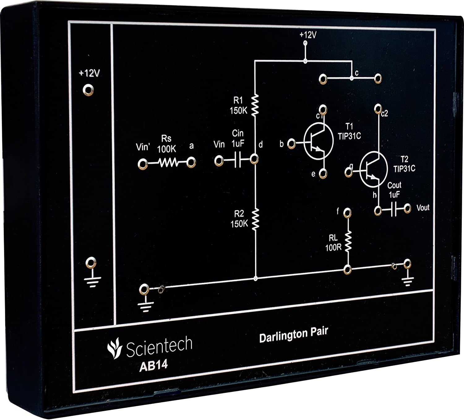 Ab14 Darlington Pair Experiment Board And Trainer Kit With 1 Year Basic Electricity Electronics Transistor Pairs Warranty Without Power Supply