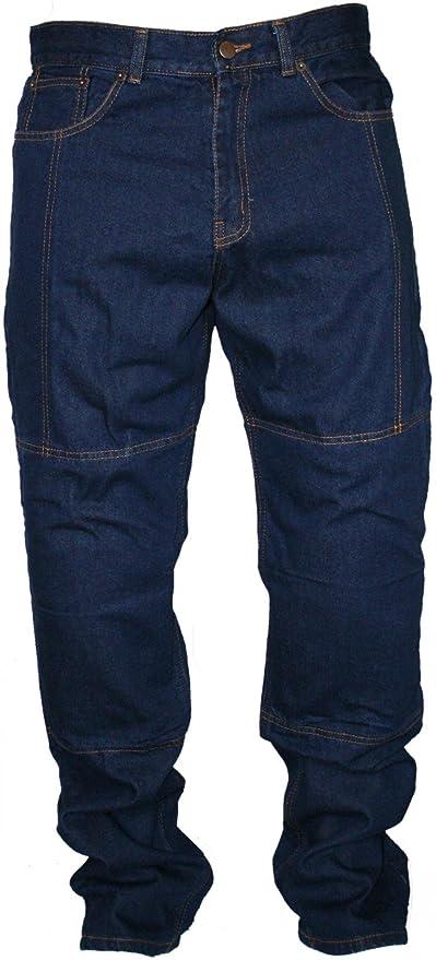 Pantalones vaqueros de motociclismo, Kevlar, con protectores ...