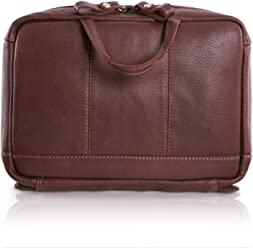 Lakeland Leather Men s Wasdale Leather Travel Wash Bag in Chestnut Brown 43f0c9cc6c397