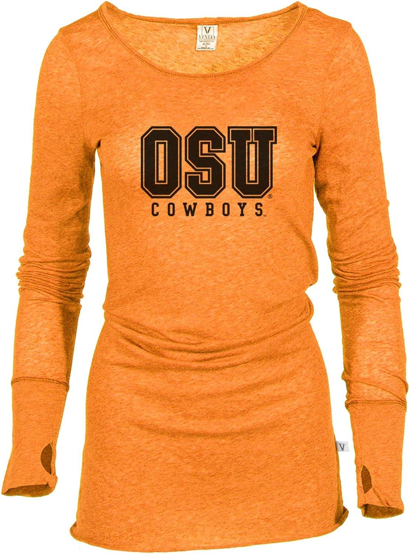 XL Venley Official NCAA Oklahoma State University OSU Cowboys Womens Long Sleeve Tee Cowboy Orange