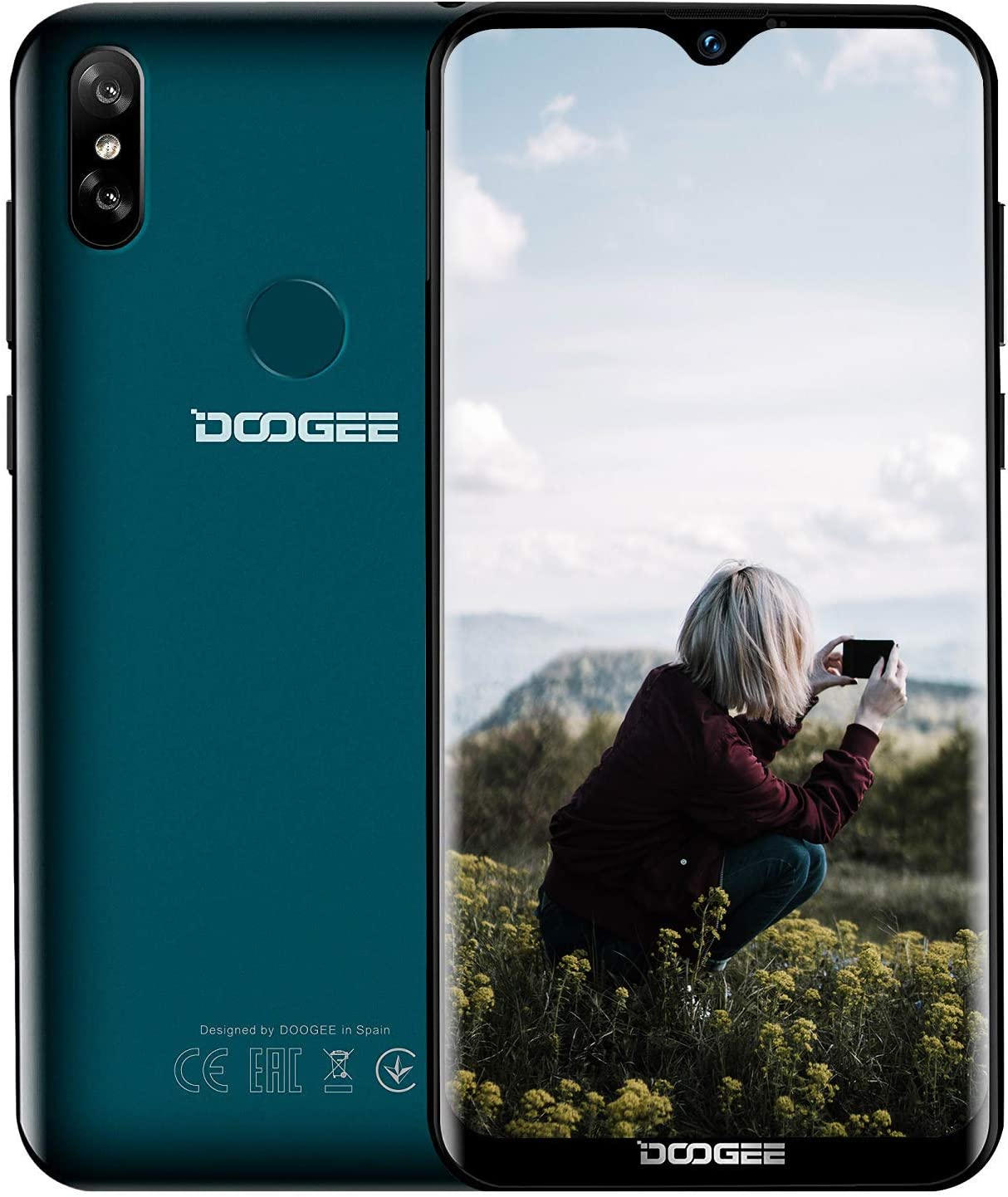 DOOGEE Y8 moviles Libres Smartphone 4G LTE,Android 9.0 Pantalla ...