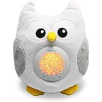 Bubzi Co Baby Toys Owl White Noise Sound Machine, Toddler Sleep Aid Night Light,...