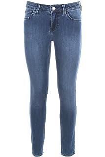 Lee Damen Jeans Scarlett High Cropped - Skinny Fit - Blau - Super ... 5c48a930aa