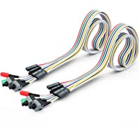 56Tiankoou 2pcs 4 in 1 PC Potenza Interruttore Reset Hard Disk Cable LED Cablato Kit di Montaggio per Computer