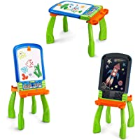 VTech DigiART - Caballete PequeARTista 3 en 1, pizarra electrónica interactiva que se transforma en tres juguetes…