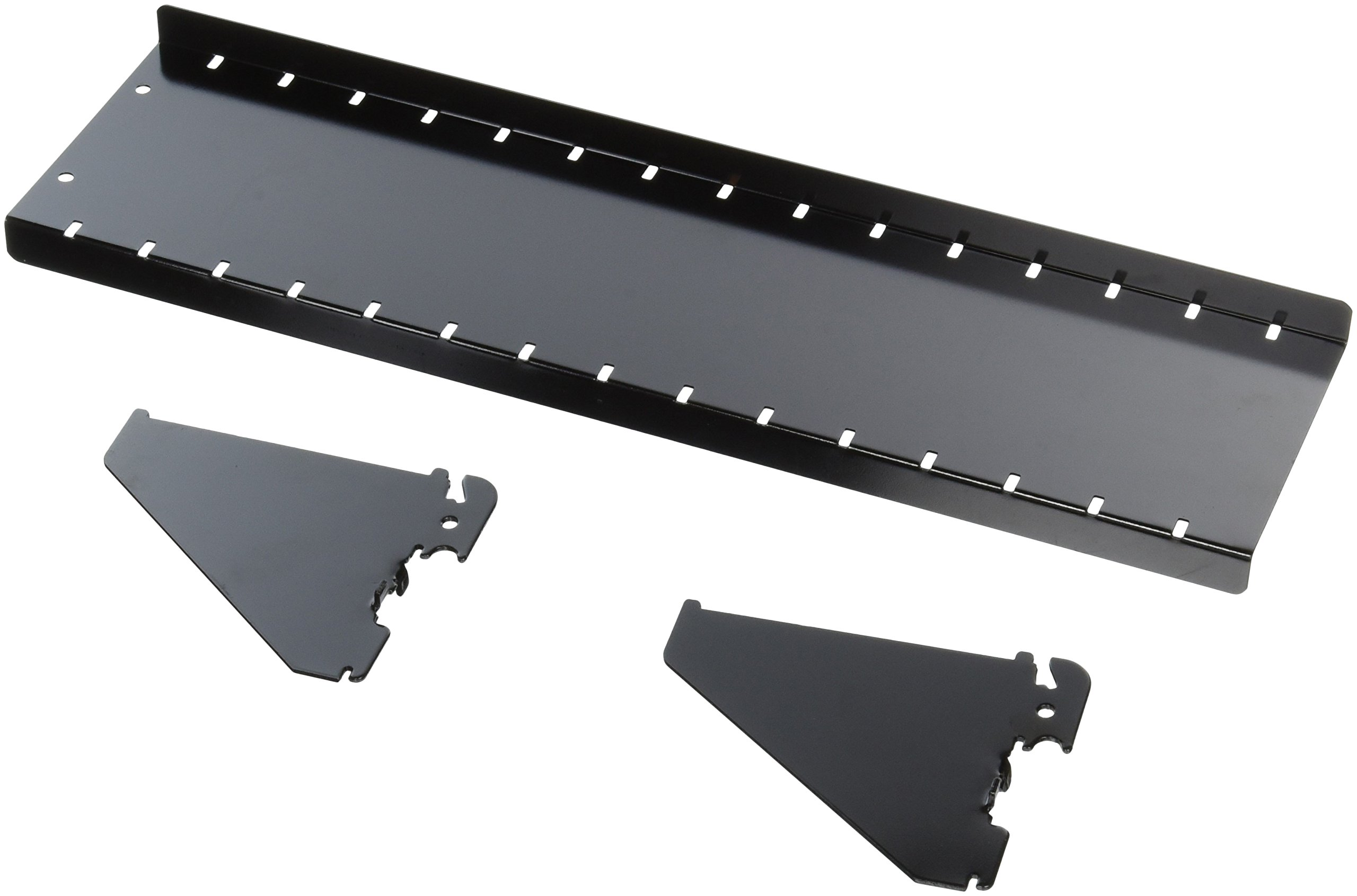 Wall Control ASM-SH-1604 B 4'' Deep Pegboard Shelf Assembly for Wall Control Pegboard Only, Black by Wall Control