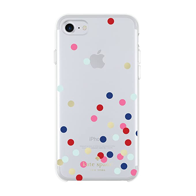 quality design ea47d 20ca2 Kate Spade New York Phone Case | for Apple iPhone 8 and iPhone 7 |  Protective Hardshell Phone Cases with Slim Design, Drop Protection -  Confetti Dot ...