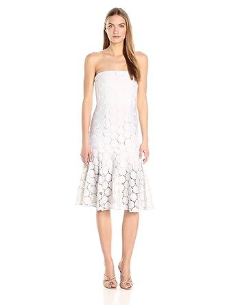 ee72e933f34 Keepsake The Label Women s Needed Me Strapless Lace Dot Midi Dress ...