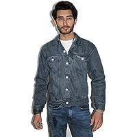 "TAB Fashion""s Denim Jacket for Men(Grey)"