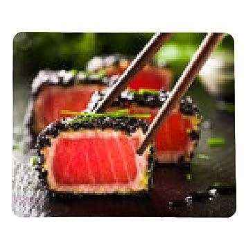 alfombrilla de ratón filete de atún frito en aceite de sésamo negro con palillos: Amazon.es: Electrónica