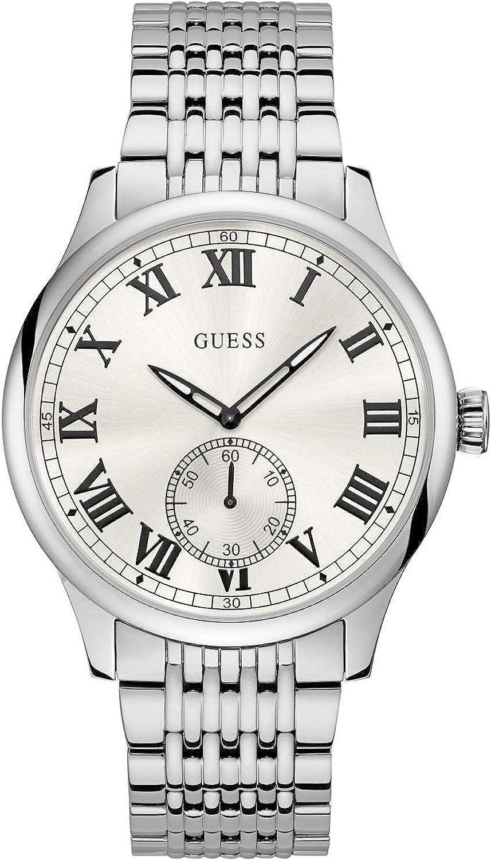 Guess Cambridge Reloj para Hombre Analógico de Cuarzo con Brazalete de Acero Inoxidable W1078G1