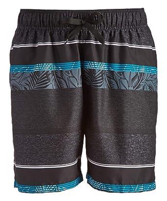 3dc5de721f Kanu Surf Men's Fusion Stripe Quick Dry Beach Volley Swim Trunk, Black,  Small